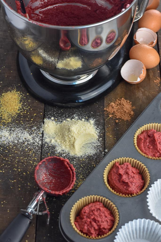 Adding dry ingredients to egg whites