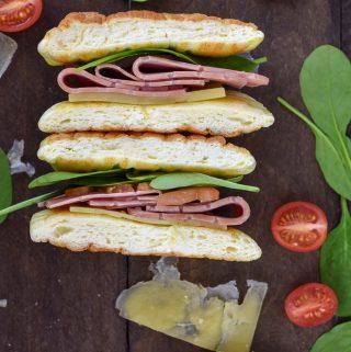 Grain Free Cloud Bread Keto Sandwich