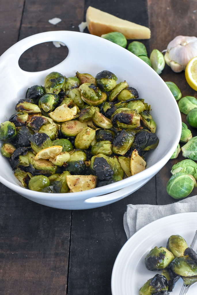 crispy brussels sprouts with lemon