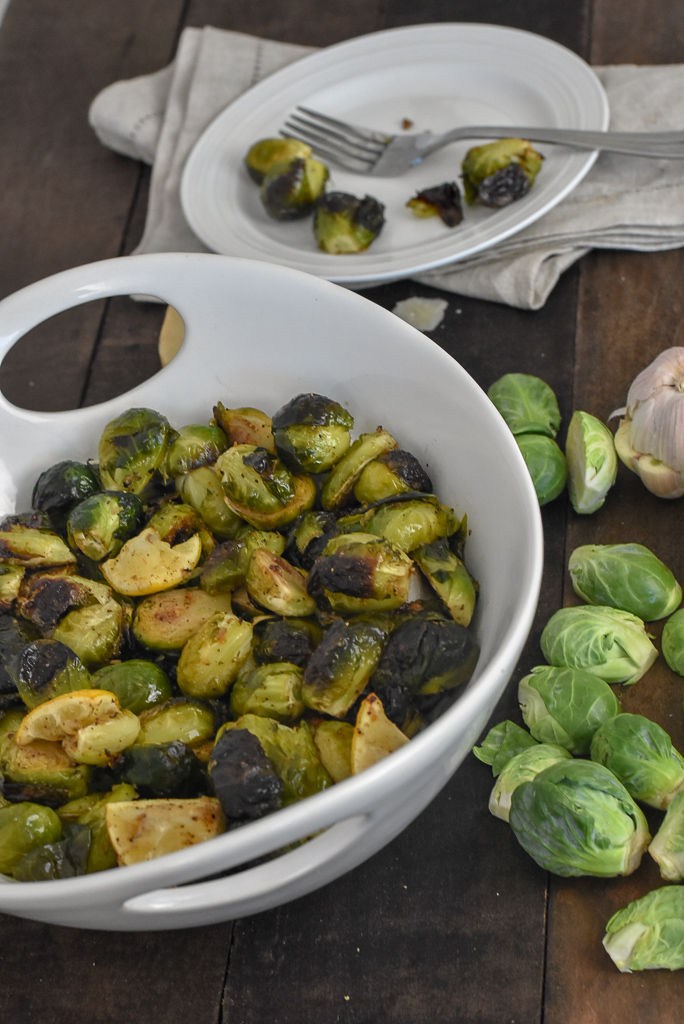 crispy brussels sprouts with parm